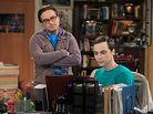 Johnny Galecki and Jim Parsons in The Big Bang Theory, one of Chuck Lorre's three popular comedies currently on CBS.