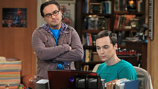 Johnny Galecki and Jim Parsons in The Big Bang Theory, one of Chuck Lorre's three popular comedies currently on CBS. (CBS)
