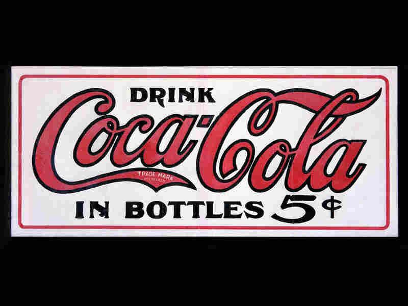 1905: An oilcloth sign.
