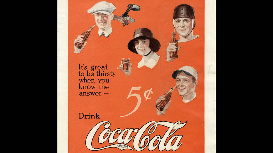 1922: A print ad in the Saturday Evening Post. (The Coca-Cola Company)