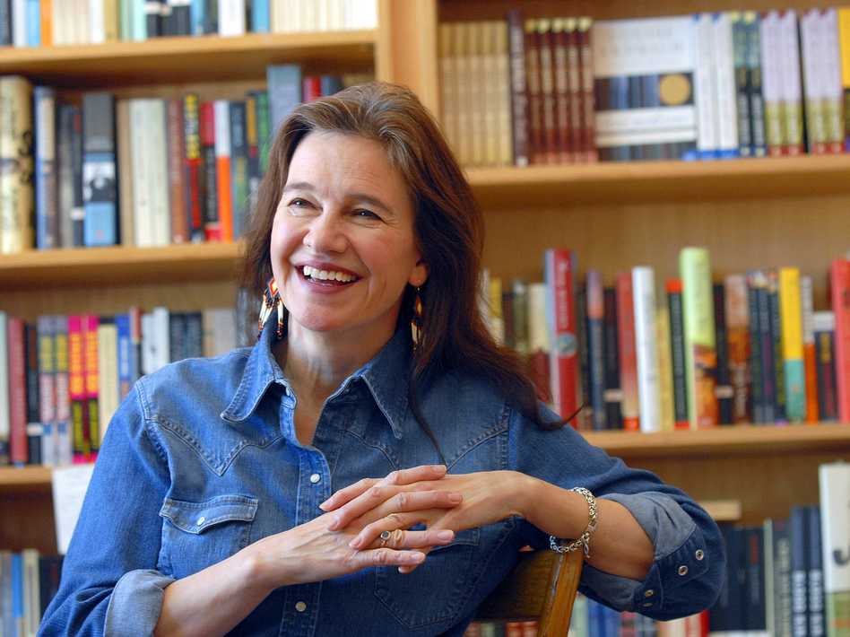 Author Louise Erdrich, seen here in May 2008, has won the National Book Award for her novel, <em>The Round House</em>.