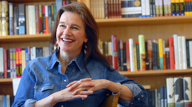 Author Louise Erdrich, seen here in May 2008, has won the National Book Award for her novel, The Round House. (AP)