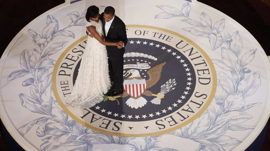President Obama dances with first lady Michelle Obama on the night of his inauguration, Jan. 20, 2009, in Washington. (AP)