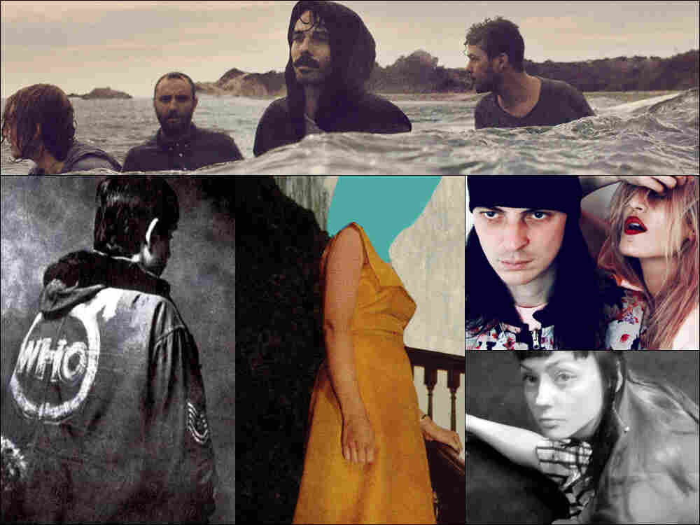Clockwise from top: Local Natives, IO Echo, Angel Olsen, cover art for Gospel Claws and The Who's Quadrophenia.
