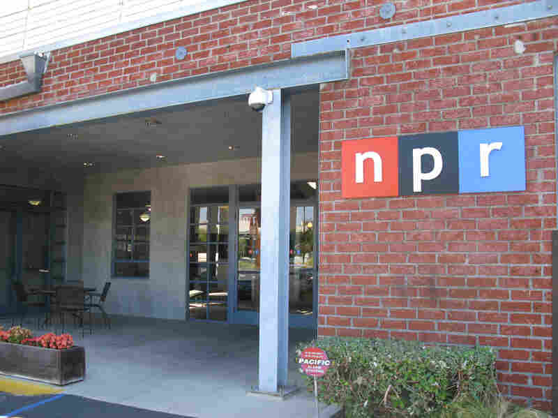 The entrance to NPR West, which is often confusing to visitors considering its location at the back of the building.