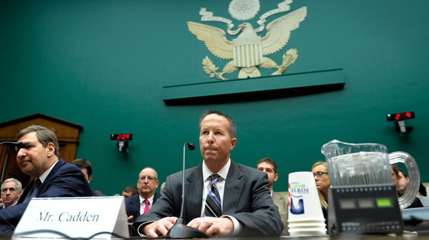 New England Compounding Center co-owner Barry Cadden went to Capitol Hill for a congressional hearing Wednesday on the fungal meningitis outbreak. Choosing to take the Fifth Amendment, Cadden did not testify. (AP)