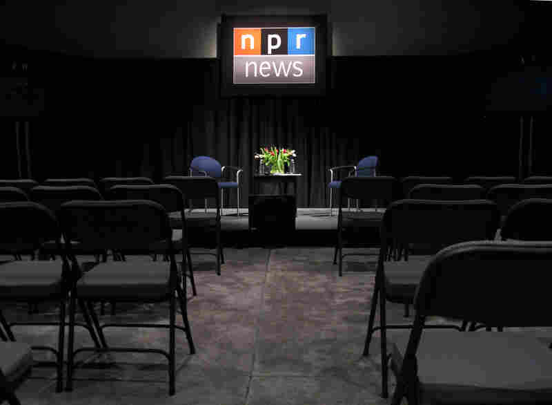 Studio A, where NPR Correspondent Ina Jaffe (who calls NPR West home) recently hosted a pre-election event.