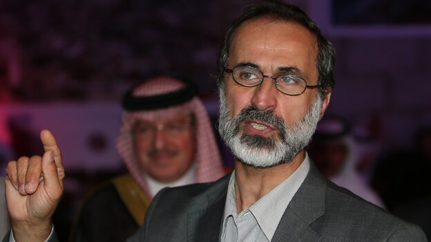 Moaz al-Khatib, a Muslim cleric, is the leader of the newly formed opposition group, the Syrian National Coalition. The opposition is working to build support inside Syria through Facebook and other social media.