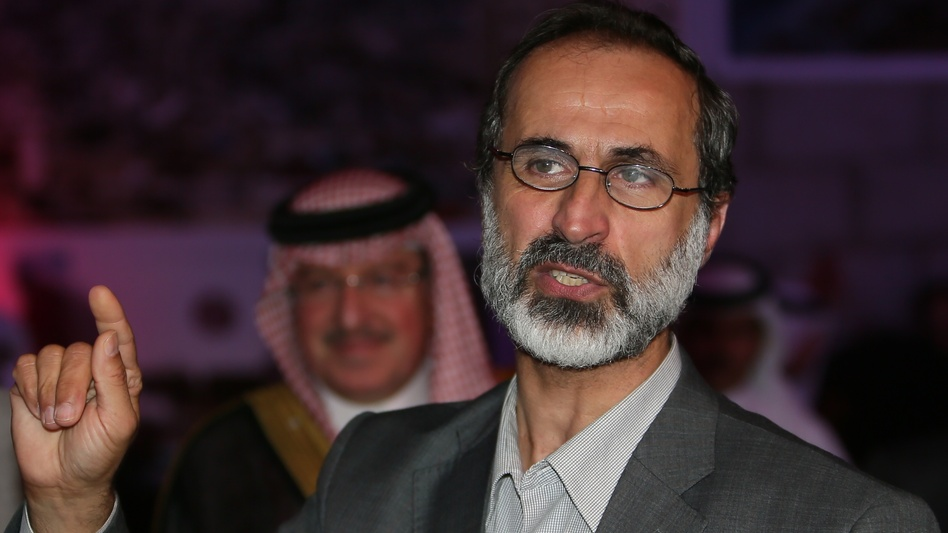 Moaz al-Khatib, a Muslim cleric, is the leader of the newly formed opposition group, the Syrian National Coalition. The opposition is working to build support inside Syria through Facebook and other social media. (AFP/Getty Images)