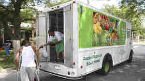 Five days a week, the Peaches & Greens truck sells affordable fruits and vegetables to families on public assistance, people without a car, homebound seniors and even local workers who otherwise would grab fast food or candy for a snack.