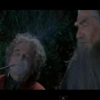 Bilbo and Gandalf (from Lord of the Rings) discussing their weed.
