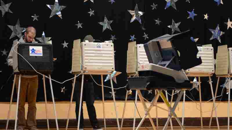 A man votes on Nov. 6 in Chicago.