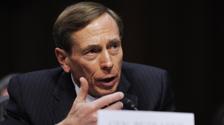 Then-CIA Director David Petraeus testifies on worldwide threats before the Senate Select Committee on Intelligence, on Jan. 31. (Xinhua /Landov)