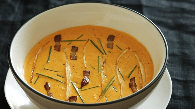 Chef Jose Garces' quinoa soup. (Jason Varney)