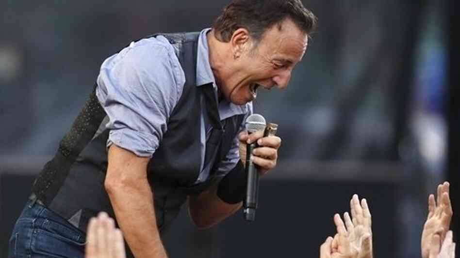 Springsteen performs at Fenway Park in Boston on Aug. 14, 2012.
