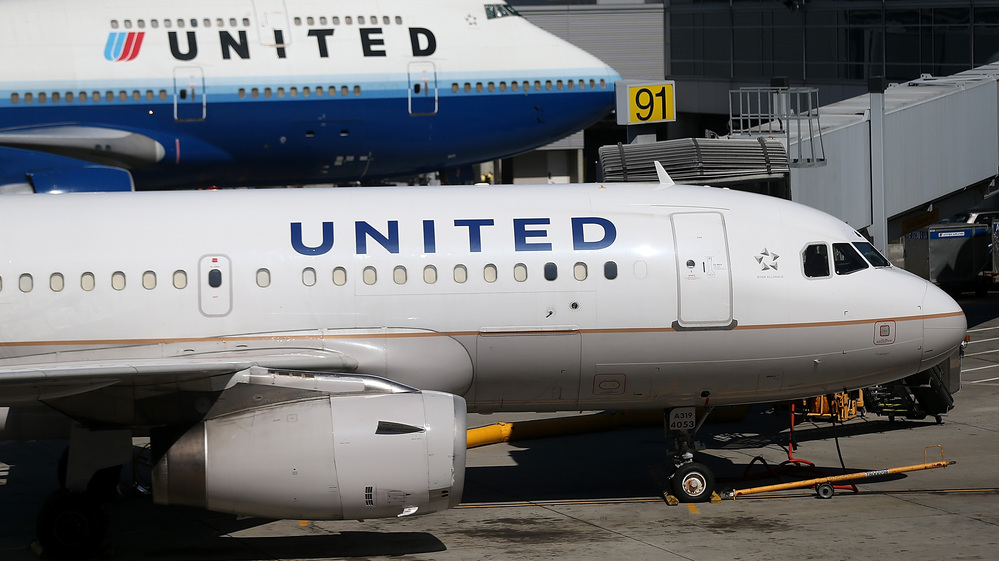 United Airlines jets in San Francisco earlier this year.