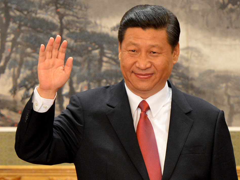 Chinese leader Xi Jinping earlier today in Beijing.
