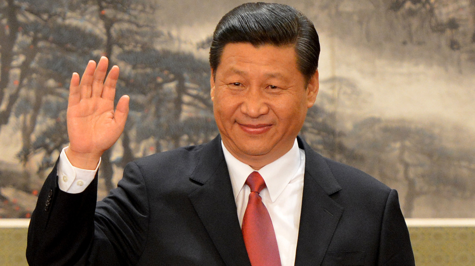 Chinese leader Xi Jinping earlier today in Beijing. (AFP/Getty Images)