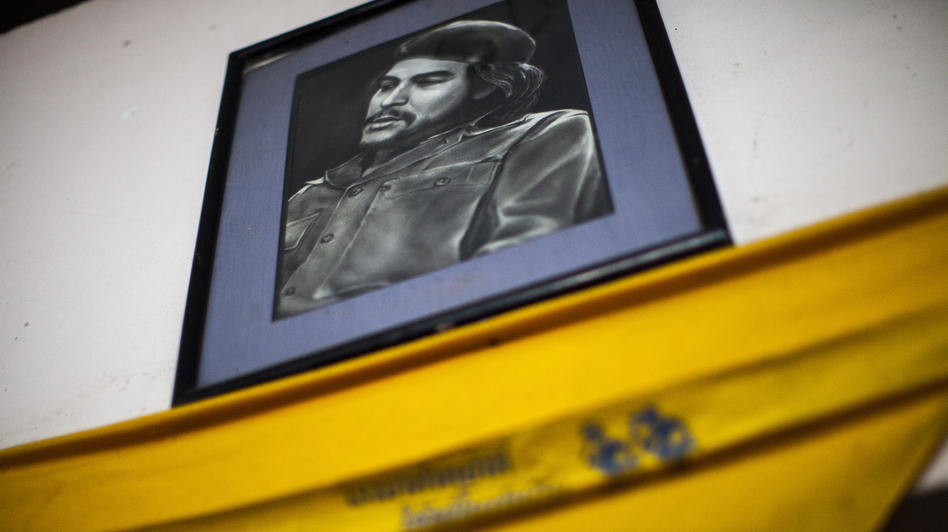 The decor of Aiya includes several portraits of Che Guevara. Thu says the Marxist revolutionary represents for him a symbol of international rebellion. (NPR)