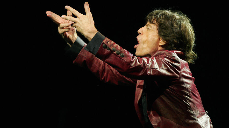 "Mick Jagger says ""Gimme Shelter"" is about a ""world closing in on you."" (AFP/Getty Images)"