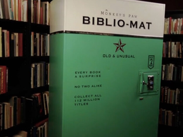 Book-Vending Machine Dispenses Suspense