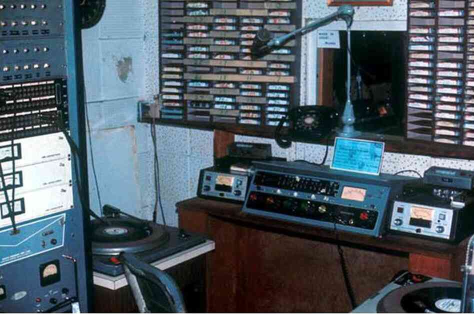 """Bruce Wahl: """"At this location, we broadcast television, AM and FM radio.  Here is a photo of one of our two radio studios.  If you'd like to hear a show that originated in this studio late one night, go to http://www.afvn.tv/audio/BruceWahl.mp3"""""""