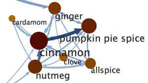 All out of nutmeg? The same algorithms that predicts your friends on Facebook can also figure out ingredient substitutions for your pumpkin pie this Thanksgiving.