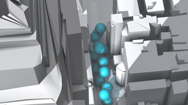 Bubbles on street level