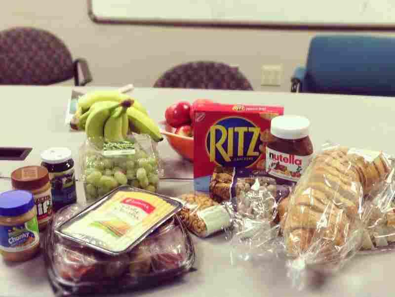 Snacks to keep NPR staffers nourished during Superstorm Sandy.