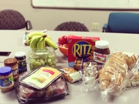 Snacks to keep NPR staffers nourished during Superstorm Sandy.