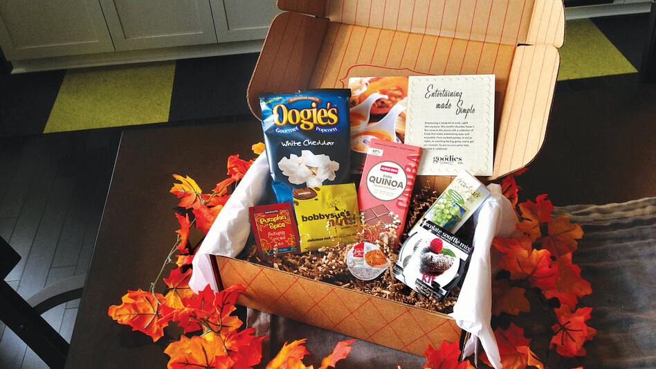 The November box from Wal-Mart's Goodies Co. certainly looks festive, but only time will tell if it survives the scrutiny of the foodie community. (Wal-Mart)
