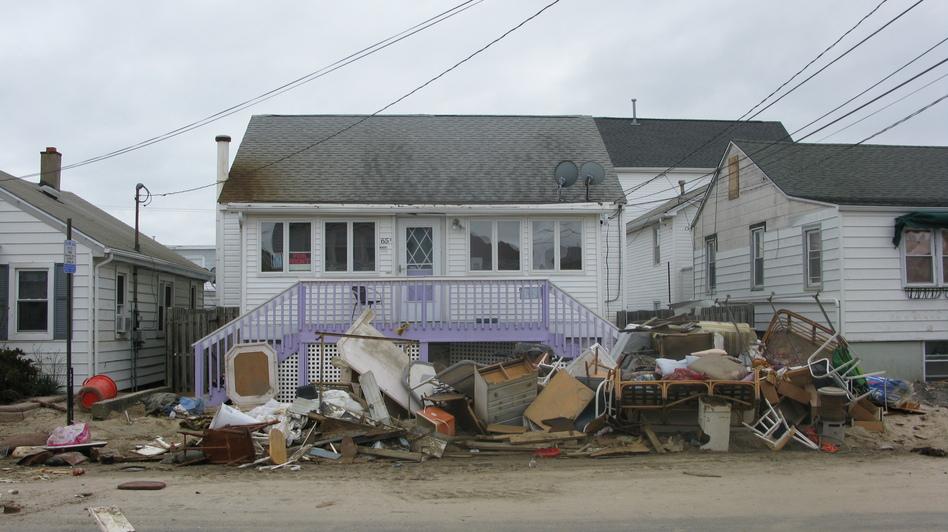 A damaged home in Seaside Heights, N.J. (NPR)