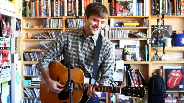 Benjamin Gibbard performs a Tiny Desk Concert at the NPR Music offices on Nov. 8, 2012. (NPR)
