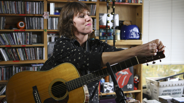 Martha Wainwright performs a Tiny Desk Concert on Oct. 15, 2012. (Ryan Smith/NPR)