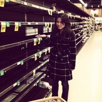 Morning Edition Production Assistant Lauren Migaki finds only empty shelves at the grocery store.