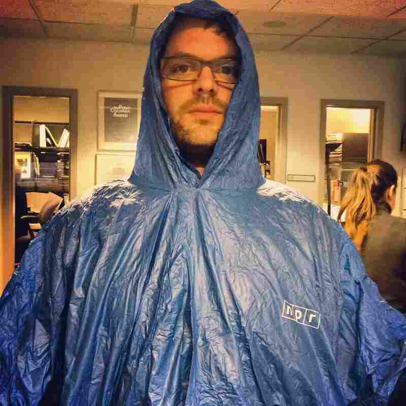 Morning Edition Producer Oliver Dearden is ready for the storm.