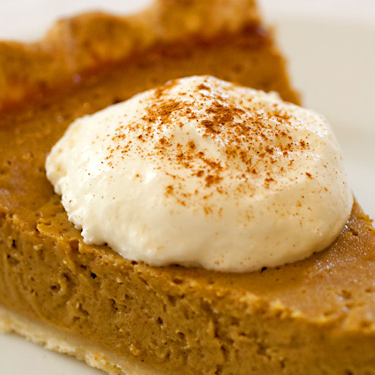 This might look like pumpkin pie, but it's actually a gluten-free twist on tradition: Stephanie Stiavetti's Butternut Squash Pie.