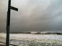 NPR's Robert Smith took this shot of the storm hitting the Rockaways in Queens.