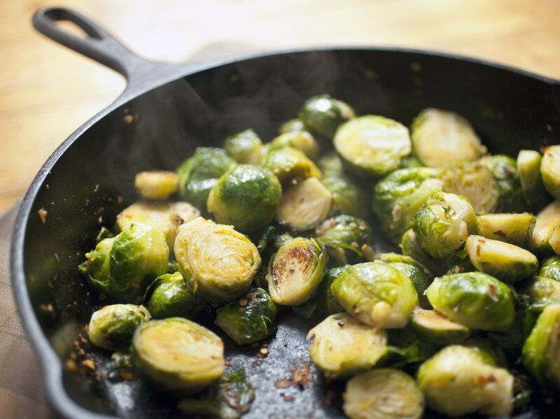 How to heat up cooked brussel sprouts