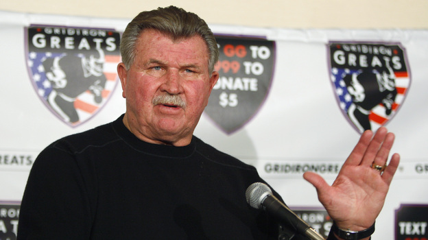 Former Chicago Bears coach Mike Ditka suffered a minor stroke on Friday. He's telling fans he's fine, but he will be taking the weekend off from his job as analyst at ESPN. (AP)