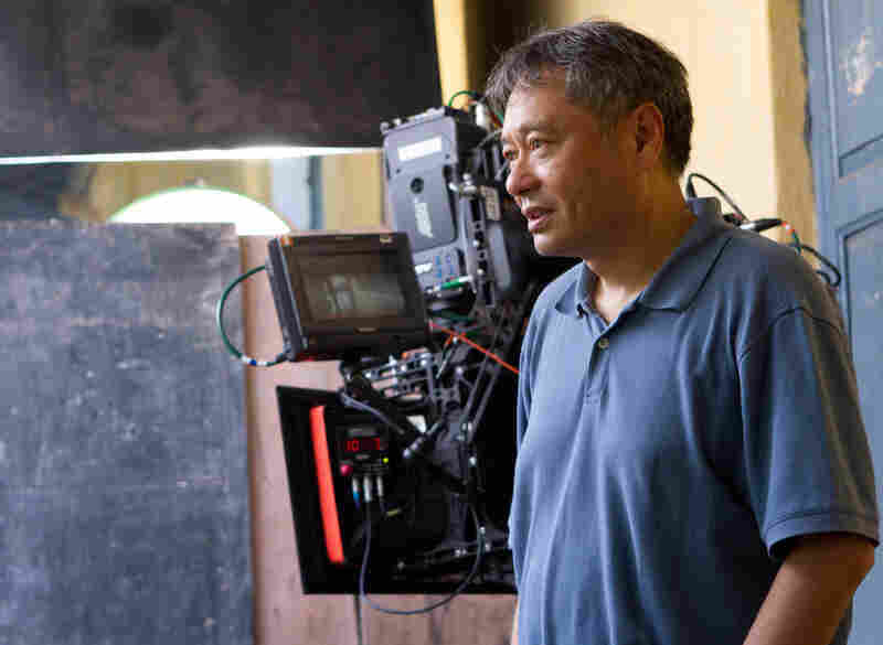 Director Ang Lee on the set of Life of Pi.