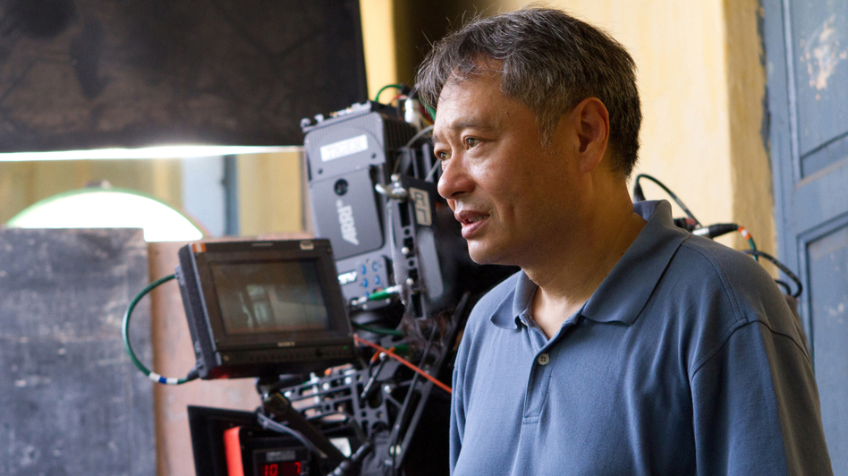 Director Ang Lee on the set of Life of Pi. (Twentieth Century Fox)
