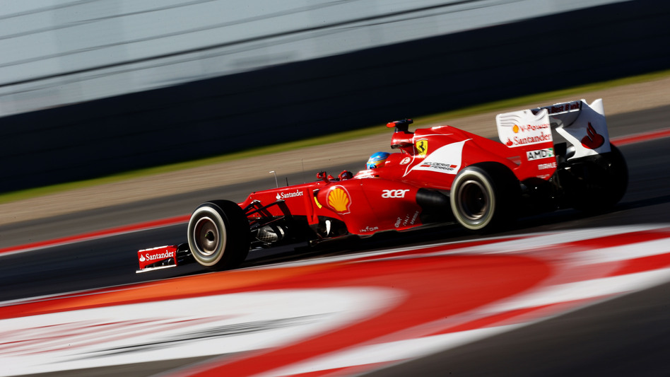 Ferrari's Fernando Alonso during qualifying at the Circuit of the Americas in Austin, Texas. (Getty Images)