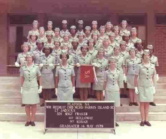 "Holly Fountain says, of this photo taken on her graduation day, ""The majority of these remarkable women, I never saw or heard from again after this picture was taken - but I've never forgotten any of them. I am located on the top row in the middle."""