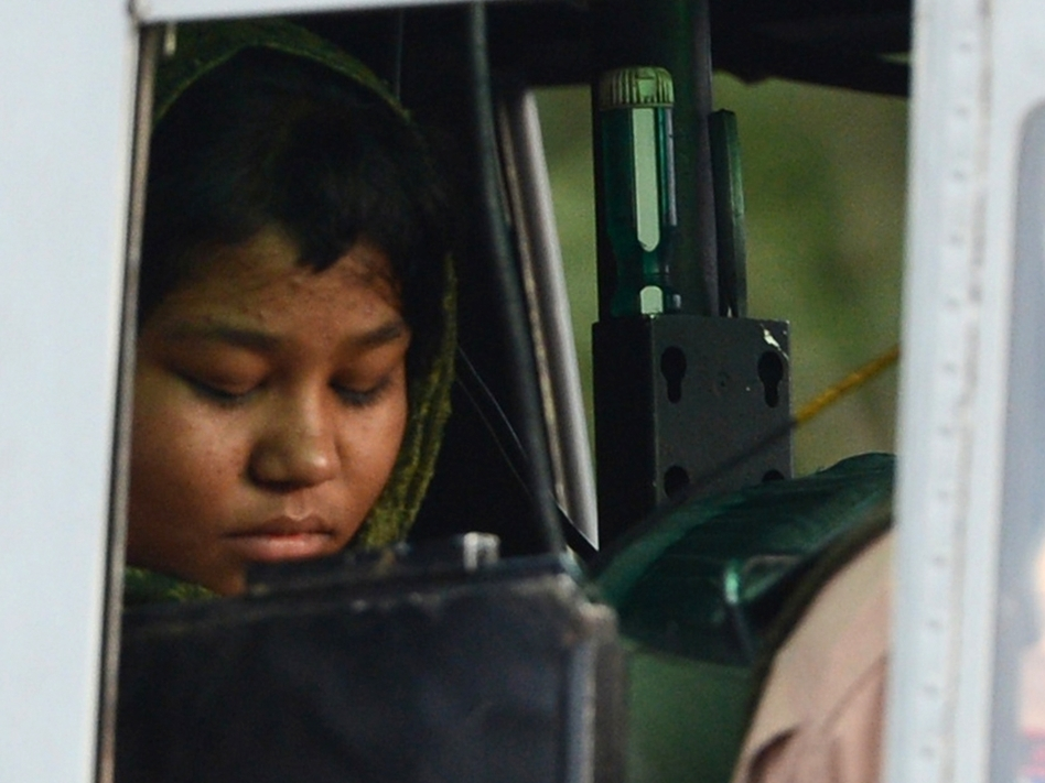 Rimsha Masih, a Christian girl, was acquitted of blasphemy charges Tuesday. After her arrest in August, mobs forced hundreds of other Christians from her Islamabad neighborhood. (AFP/GettyImages)