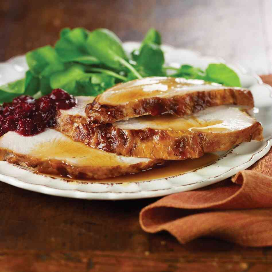 Roasted Maple Brined Turkey Breast With Crab Apple And Cranberry ...
