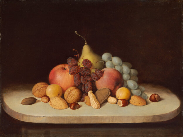 Still Life with Fruit and Nuts, by Robert Seldon Duncanson