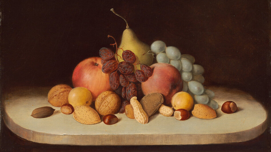 Still Life with Fruit and Nuts, by Robert Seldon Duncanson ( Courtesy National Gallery of Art, Washington)