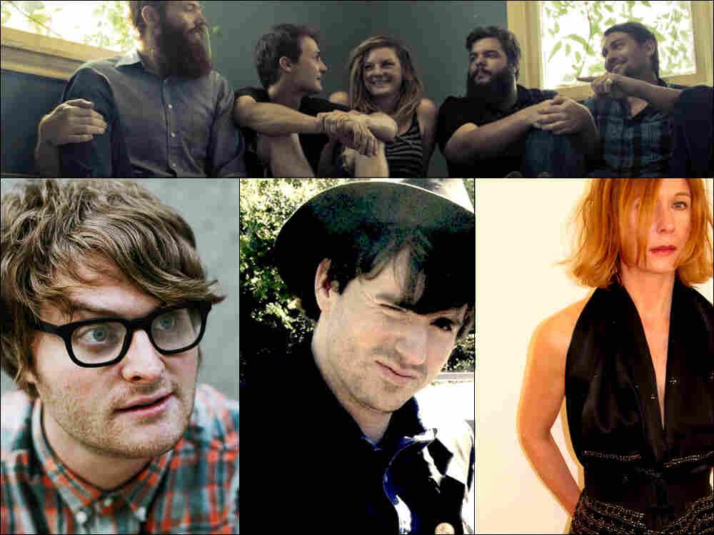 Clockwise from top: Seryn, Sam Phillips, Adam Arcuragi, Michael Benjamin Lerner of the band Telekinesis.