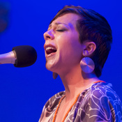 Gretchen Parlato performing at the Caramoor Jazz Festival in Katonah, N.Y. July 28.